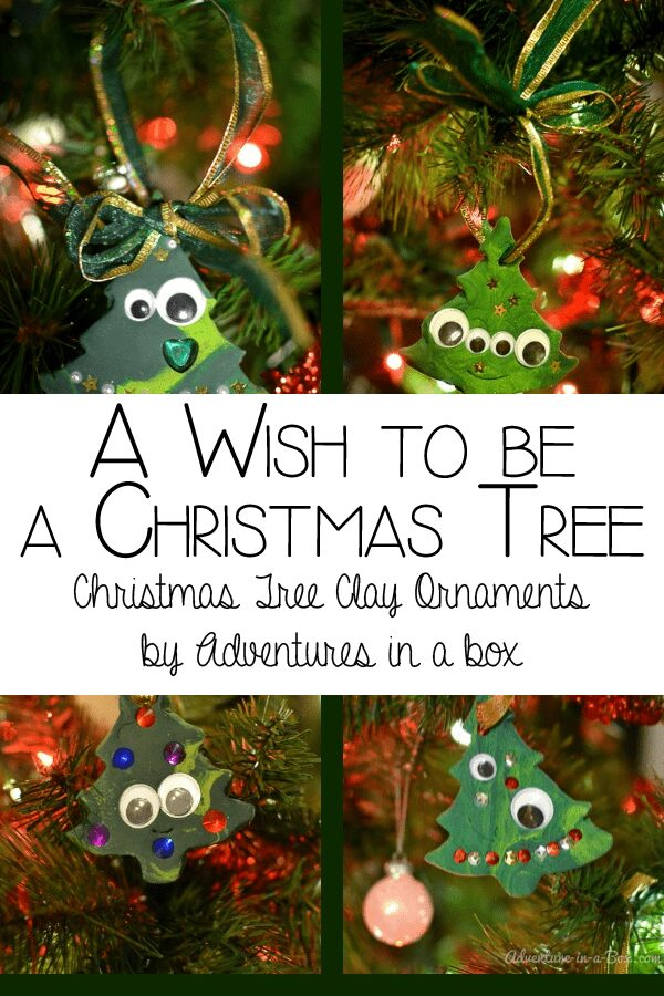 Christmas Tree Clay Ornaments for the book A Wish to be a Christmas Tree