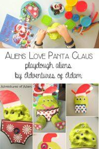 Aliens Love Panta Claus - playdough aliens