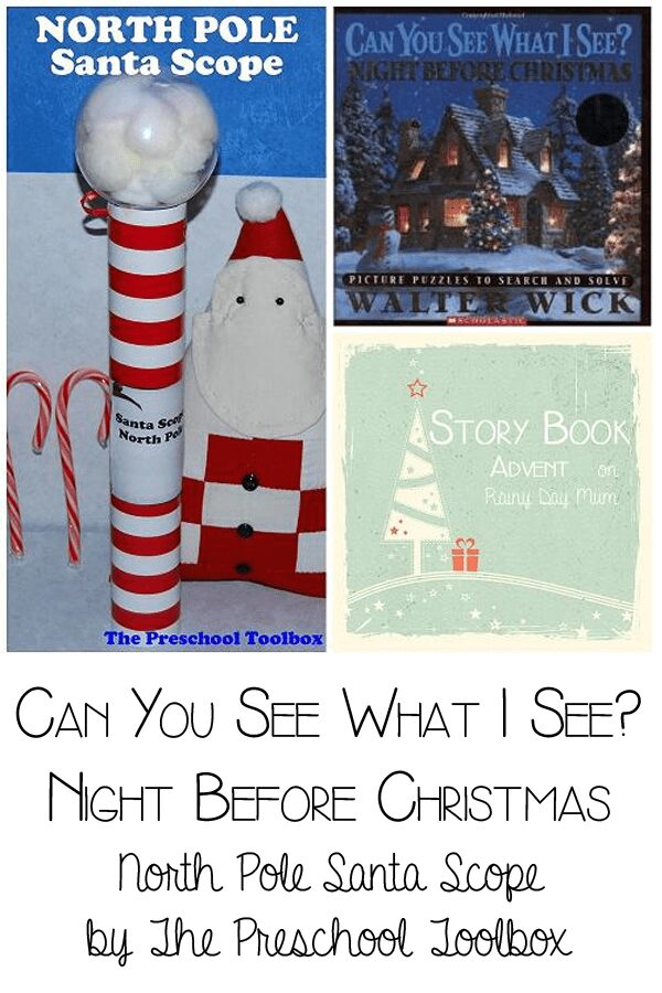 Can you see what I see? Night Before Christmas - North Pole Santa Scope