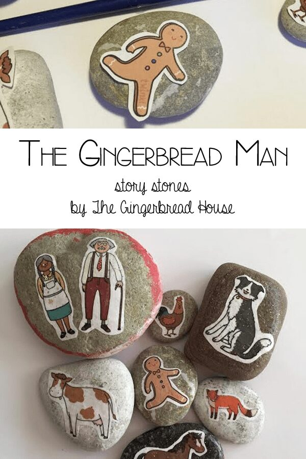 The Gingerbread Man - brought to you by The Gingerbread House making story stones