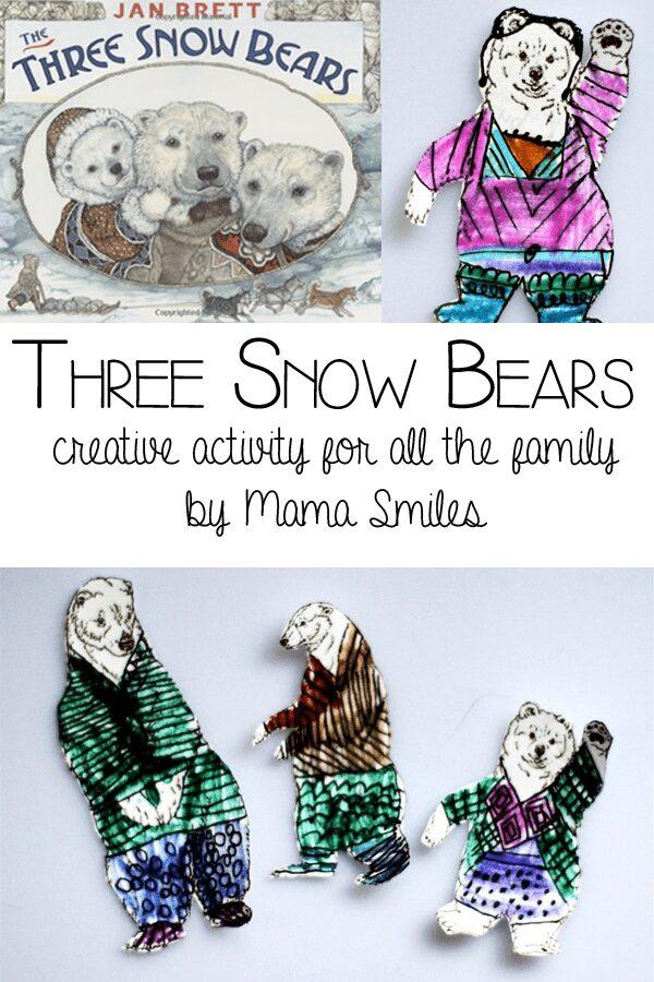 Three snow bears - creative activity for family fun