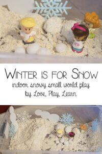 Winter is for Snow - indoor snowy small world play