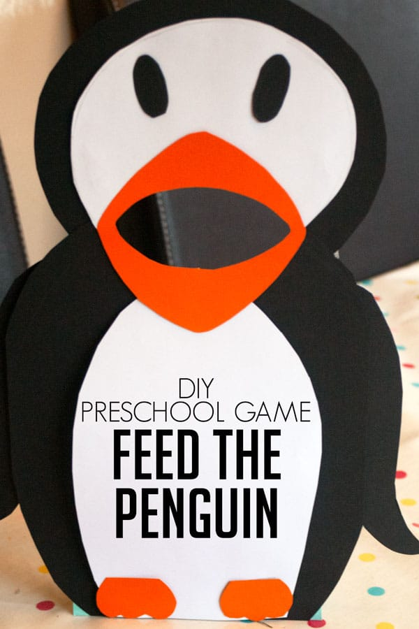 DIY Feed the Penguin Game for Preschoolers