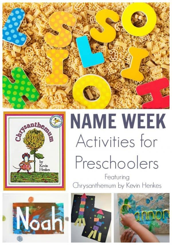 Name Week Activities for Preschoolers