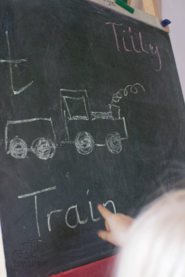 Letter Game for the Chalkboard to help preschoolers learn their name and letter recognition