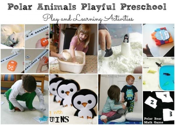 Polar Animals Playful Preschool play and learning activities