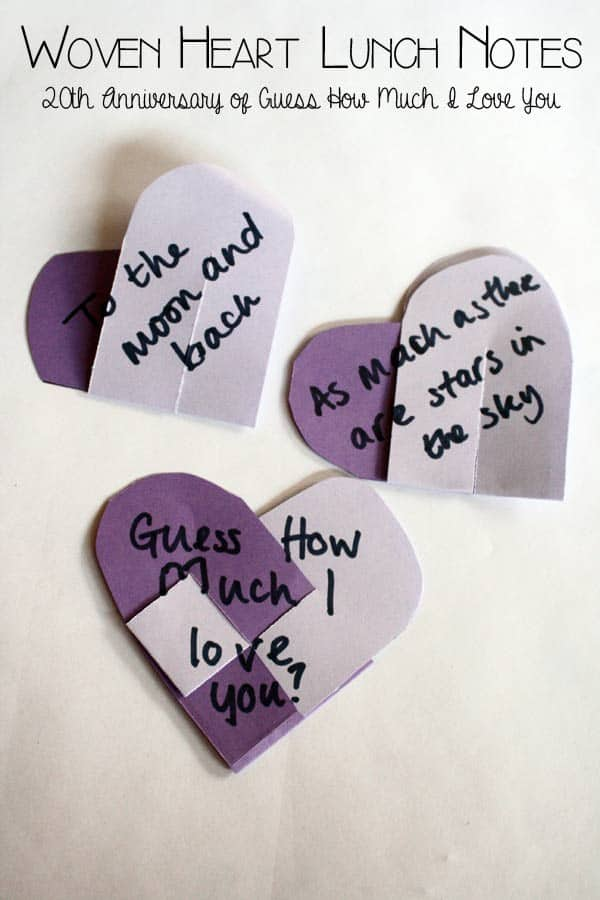 Heart Lunch Notes – Guess How Much I Love you