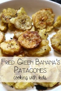 "Green Banana Fries ""Patacones"" – Cooking with Kids"