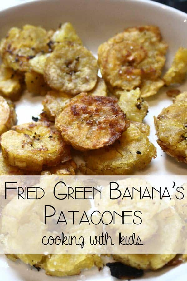 Patacones recipe to cook with kids