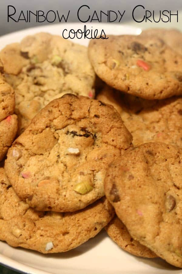 Rainbow Candy Crush Cookies