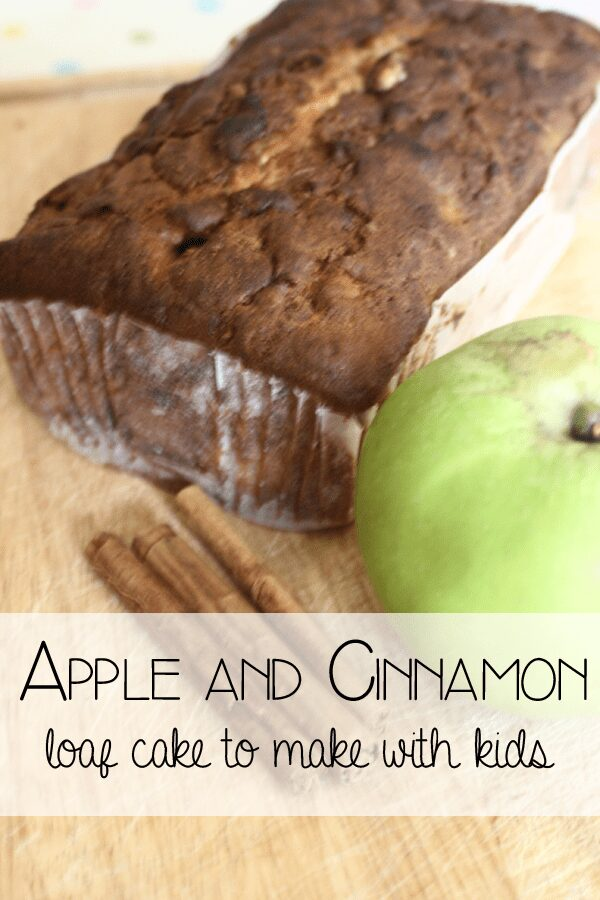Apple and cinnamon loaf cake - cooking with kids a simple easy to follow recipe for a delicious treat