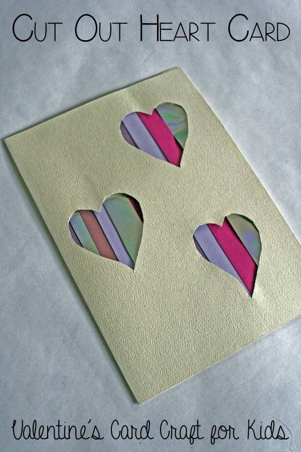 Cut out Heart Card – Valentines Card Craft for Kids
