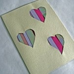 Cut Out Heart Card - quick and simple valentine's card craft for kids