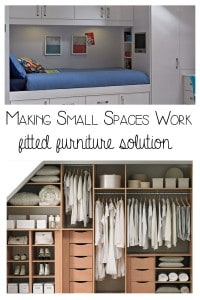 Making small spaces work – fitted furniture