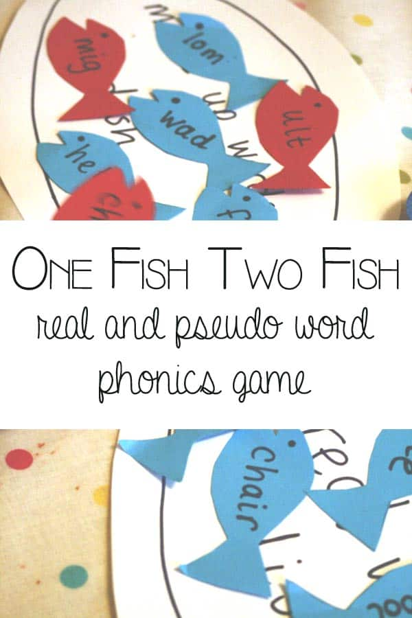 One Fish Two Fish – real and pseudo words game