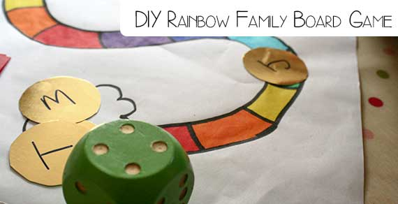 DIY Family Board Game for learning and movement