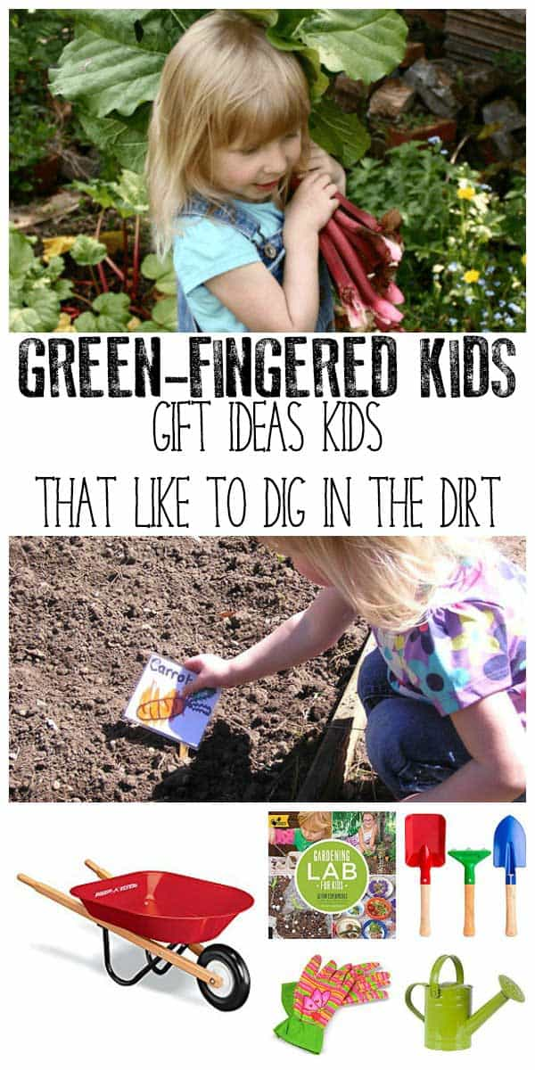 Inspire your kids to grow their own with these great gift ideas for kids that love to dig in the dirt. Your guide to useful gifts for gardening with kids.