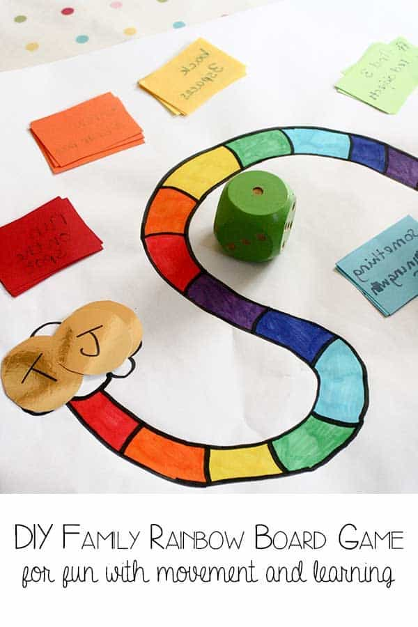 DIY Family Rainbow Game