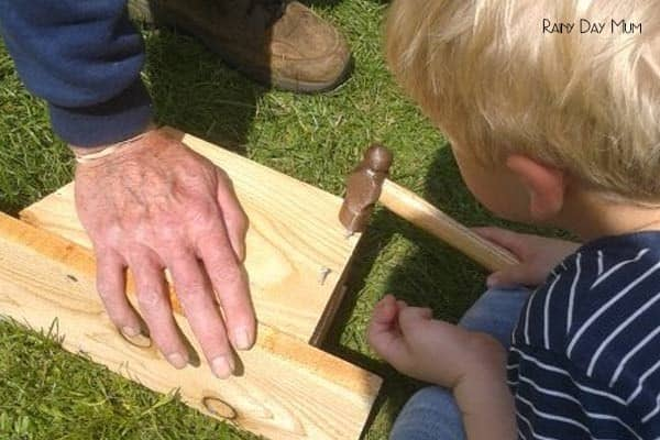 DIY Nest Box - wildlife gardening with kids