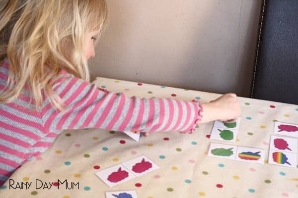 Rainbow Domino Game with Free Printable domino set