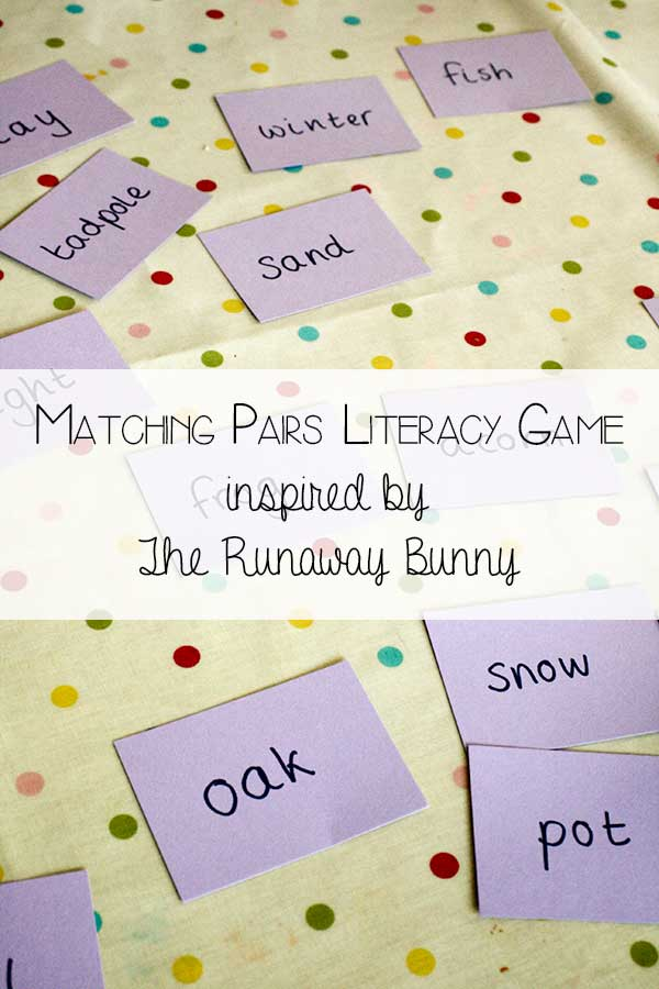 Matching Pairs – Inspired by The Runaway Bunny by Margaret Wise Brown