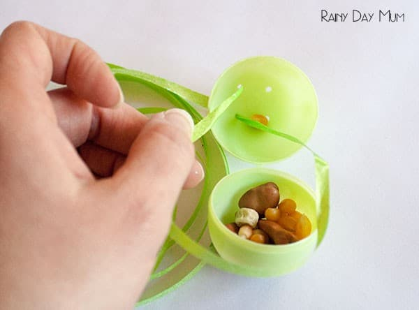 Spring Themed Easter Egg Maracas to make