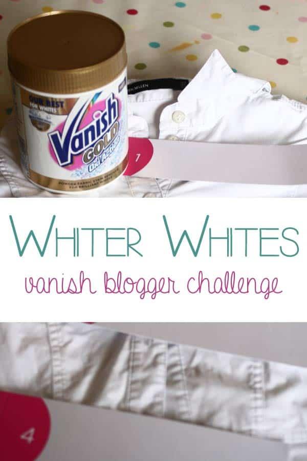 Whiter whites – Vanish Bloggers Challenge