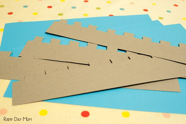 Skip Counting Battlements - Castle themed math activity for counting in 2's, 10's and 5's