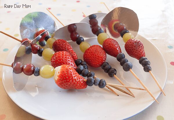 Fruit Swords and Magic Wands simple snacks for kids to make