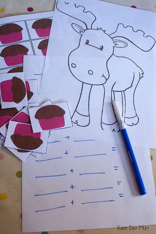 If you give a moose a muffin math activity for the book by Laura Numeroff