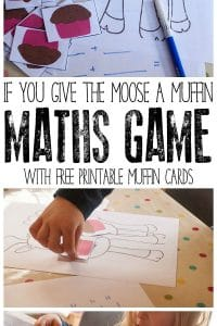 Connect Math and books with this early elementary game for the book If you give a moose a muffin by Laura Numeroff