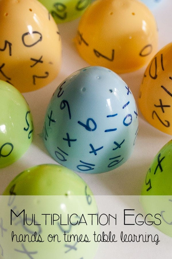 Multiplication Eggs - hands on times table practice for kidsMultiplication Eggs - hands on times table practice for kids