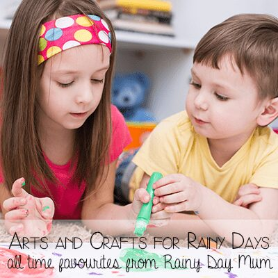 Arts and crafats for rainy days - our favourite rainy day activities from Rainy Day Mum