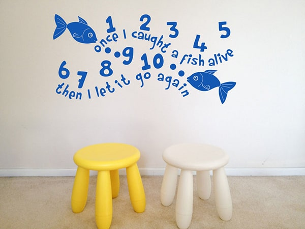 Once I caught a Fish Alive Wall Decor for Nurserys