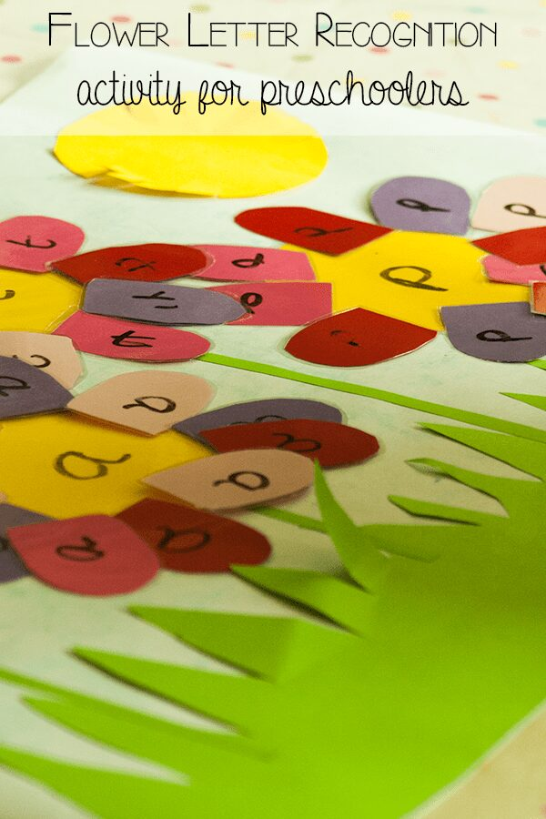 letter recognition flower diy activity for preschoolers