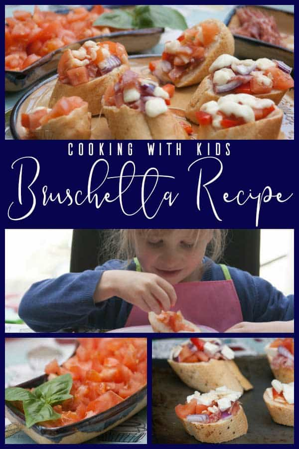 Easy Bruschetta recipe to make with Kids
