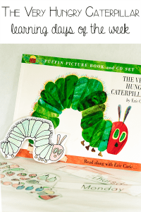 Learning to read the days of the week with The Very Hungry Caterpillar