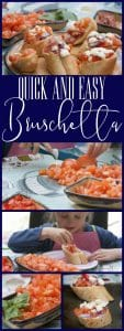 A simple healthy bruschetta recipe to make with kids ideal for those after-school hunger pains or as a simple summer meal starter to enjoy together.