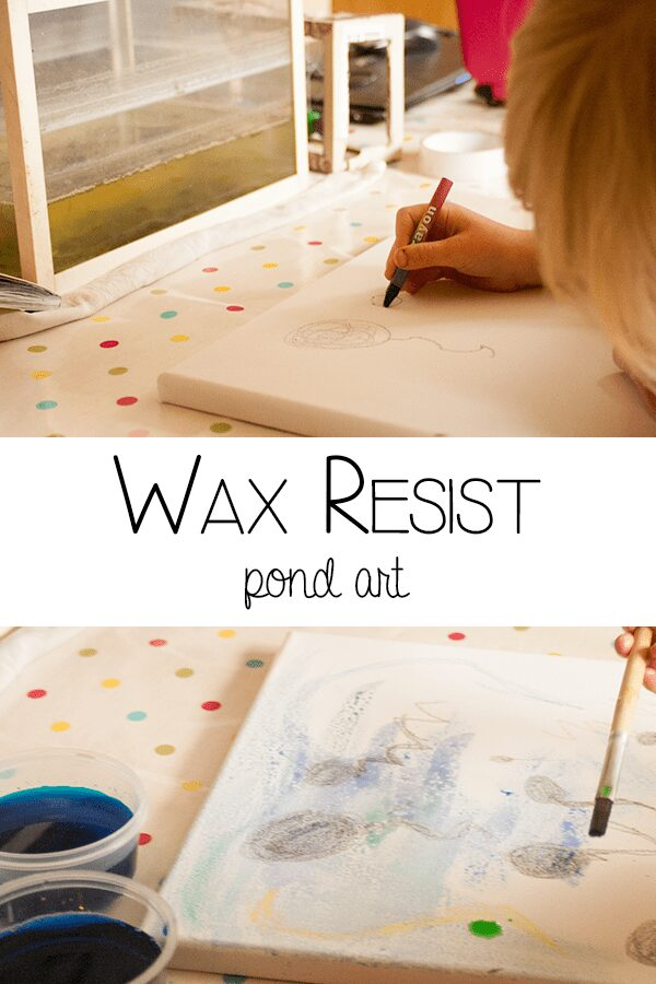 Wax Resist Pond Art