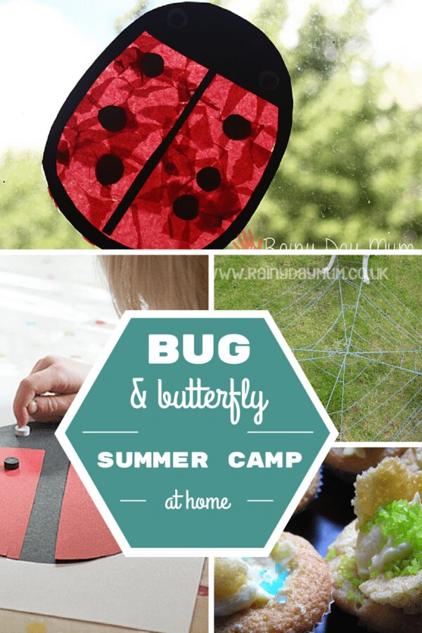 Bug and Butterfly Summer Camp - a weeks worth of crafts, outdoor, snacks and learning activities for kids that you can do with the kids at home