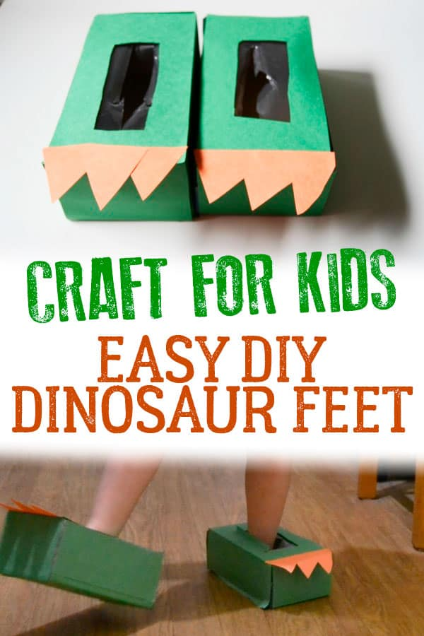 DIY Dinosaur Feet | Rainy Day Activities | 32 Fun Things For You And Your Kids To Do Indoors