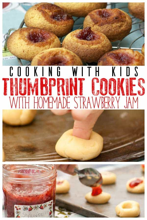 Strawberry Thumbprint Cookies and Homemade Jam Recipe to Cook with Kids