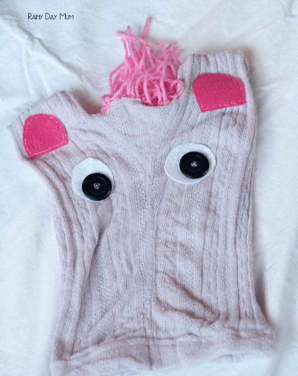 Upcycled Cavendish Creature, discover how much savings you can make by purchasing your life insurance through Cavendish online and see how to make this upcycled kids tights Critter which we made using our savings