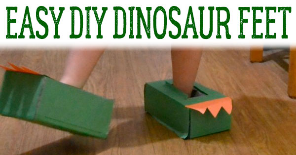 DIY Dinosaur Feet