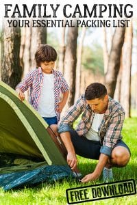 Download and print out the family camping checklist ideal if this is your first time heading out as a family camping.