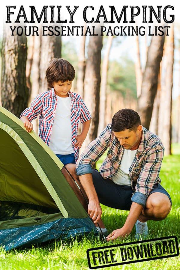 Essential Equipment for your Family Camping Trip including a downloadable list