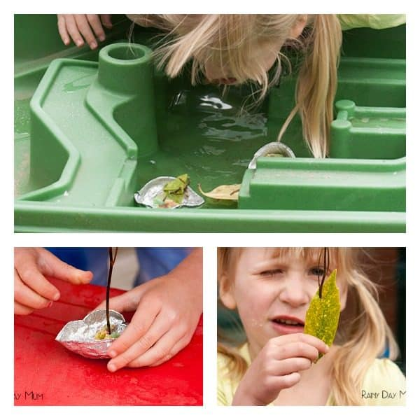 Summer Craft and Science activity for kids - ideal to add to your summer bucket list now. Create pie tin boats, use materials discovered and man-made and challenge your family to create the fastest that they can