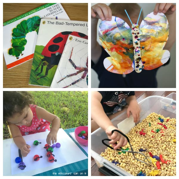 Bugs and butterflies week long summer camp at home for toddlers and preschoolers from the Virtual Book Club for Kids