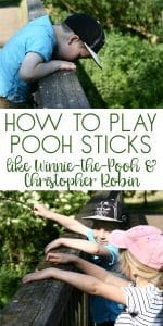 Play the classic outdoor game Pooh Sticks with your family, try the famous game that Winnie-the-Pooh invents in House at Pooh Corner with his friends.