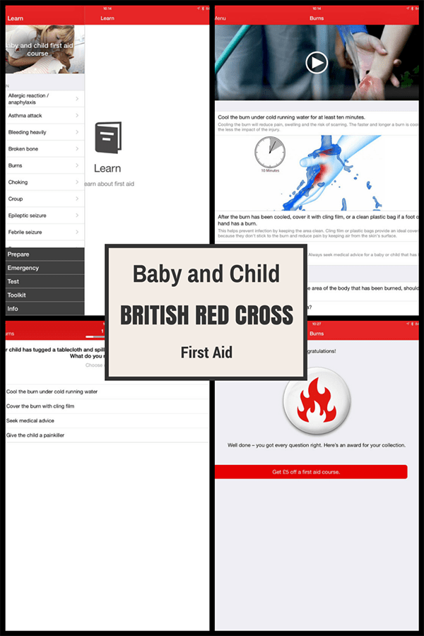 Would you know what to do it in an emergency with your child - get training with the British Red Cross in person and by the FREE App that you can download today